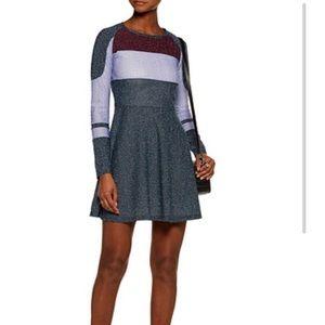 Carven color-block lurex skater dress